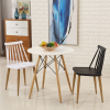 ghe ăn, ghế cafe mặt nhựa, chân sắt sơn giả gỗ