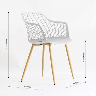 Ghế cafe nhựa chân gỗ BD-05